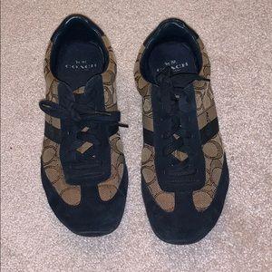 Coach navy suede sneakers